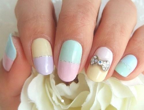 uñas-decoradas-fáciles-brillantes-para-las-uñas