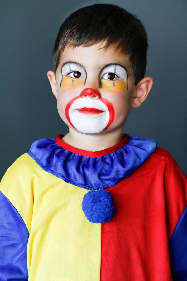 Maquillaje infantil de payaso para Carnaval 2015