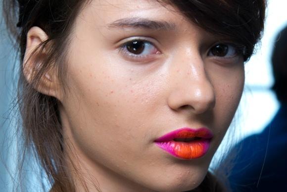 labios bicolor