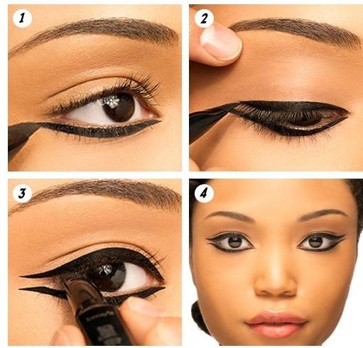 fb4293a07 Para las que no sepáis exactamente como se puede hacer la raya que nos  permita delinear los ojos y hacer que se vean como si estuvieran estirados,  ...