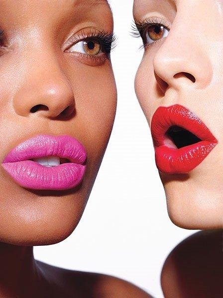 maquillaje-de-noche-de-verano-2014-labios-fucsia-rojo