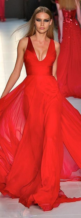 maquillaje vestido rojo