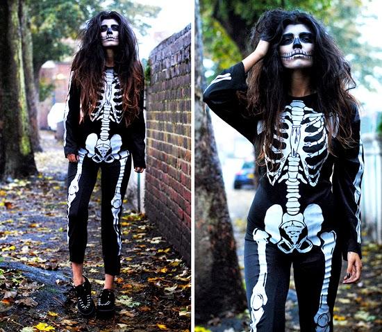 Disfraz de Esqueleto para Halloween 2015