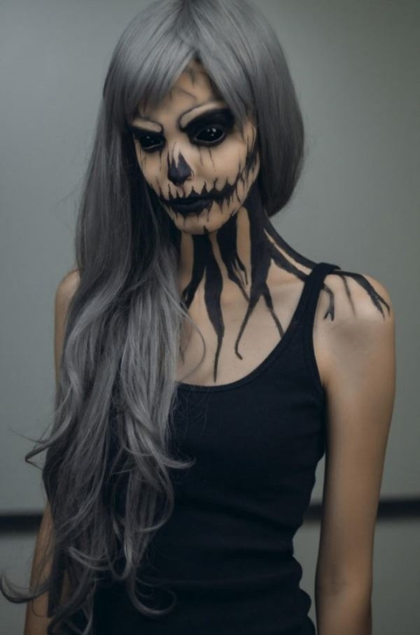 Otras ideas para el maquillaje Halloween Muerte 2015-boca-negra