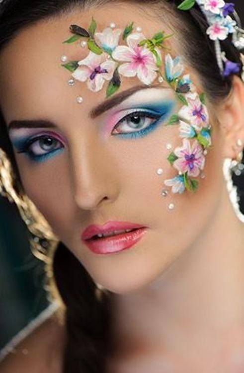 como-hacer-un-maquillaje-floral-para-carnaval-2016