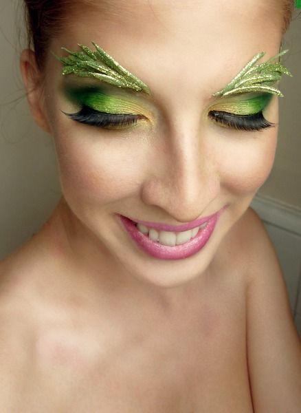 maquillaje-de-campanilla-tinkerbell-detalle-en-las-pestañas
