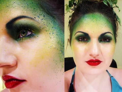 maquillaje-de-hada-verde-carnaval-2016-rostro-verde