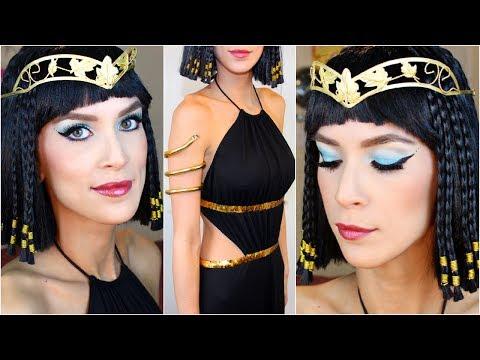 maquillaje-de-Cleopatra-para-Carnaval-2016-maquillaje-sombras-azules-disfraz-negro