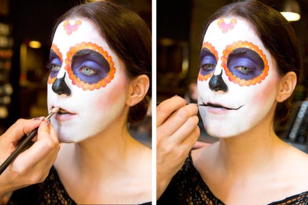 maquillaje-de-esqueleto-para-carnaval-2016-calavera-mexicana-boca