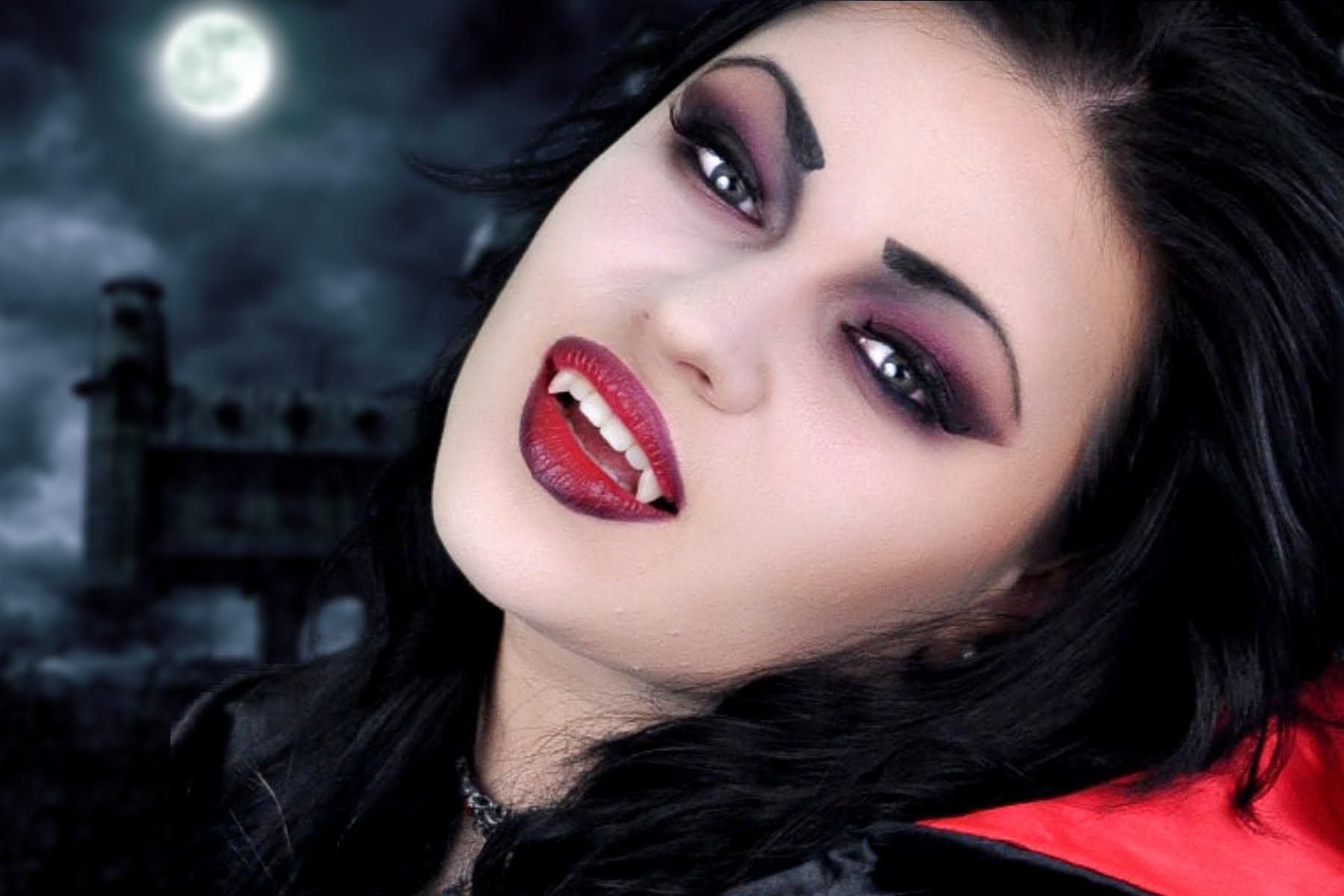 maquillaje vampiresa mujer