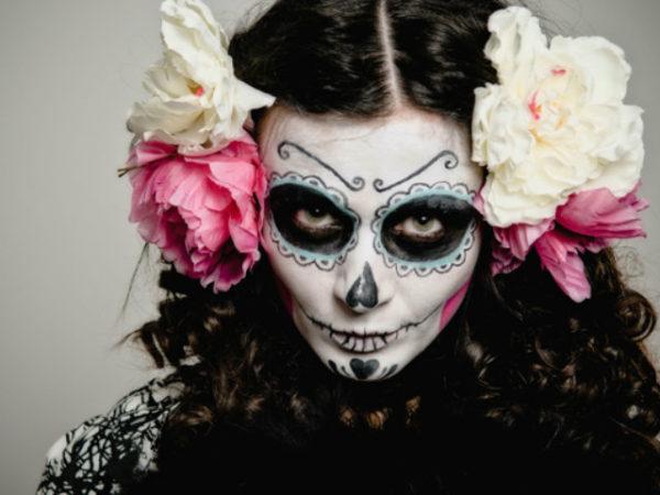 maquillaje-halloween-muerte-mexicana