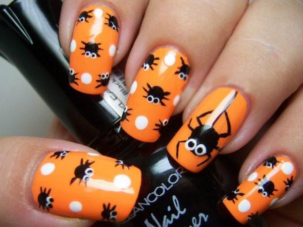 unas-halloween-2016-naranjas-telarana