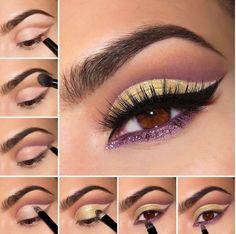 maquillaje-para-un-vestido-amarillo-color-opuesto