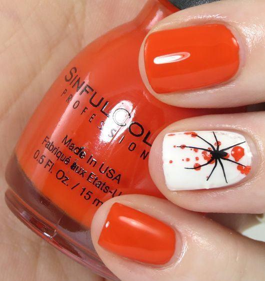 unas-halloween-elegantes-naranja