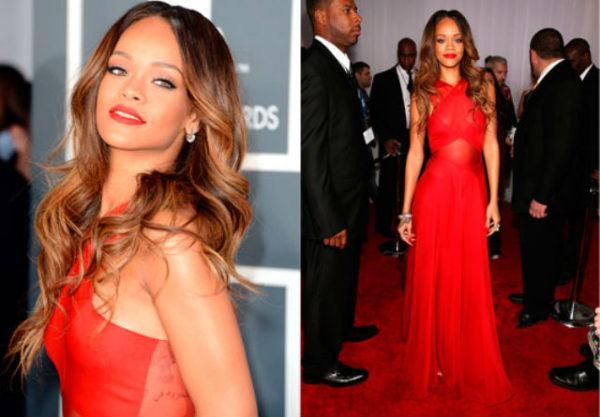 maquillaje-para-vestido-rojo-rihanna
