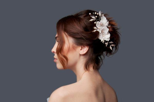 Peinados para novias peinado updo pelo corto