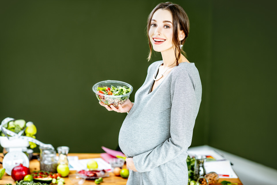 Alimentos vegetarianos y embarazo