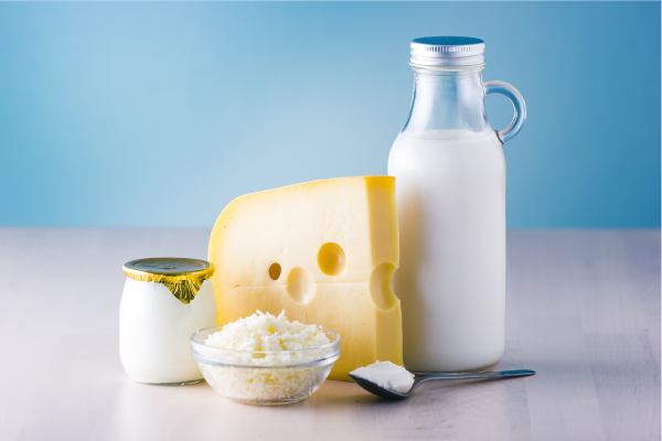 Lácteos y yodo en el embarazo