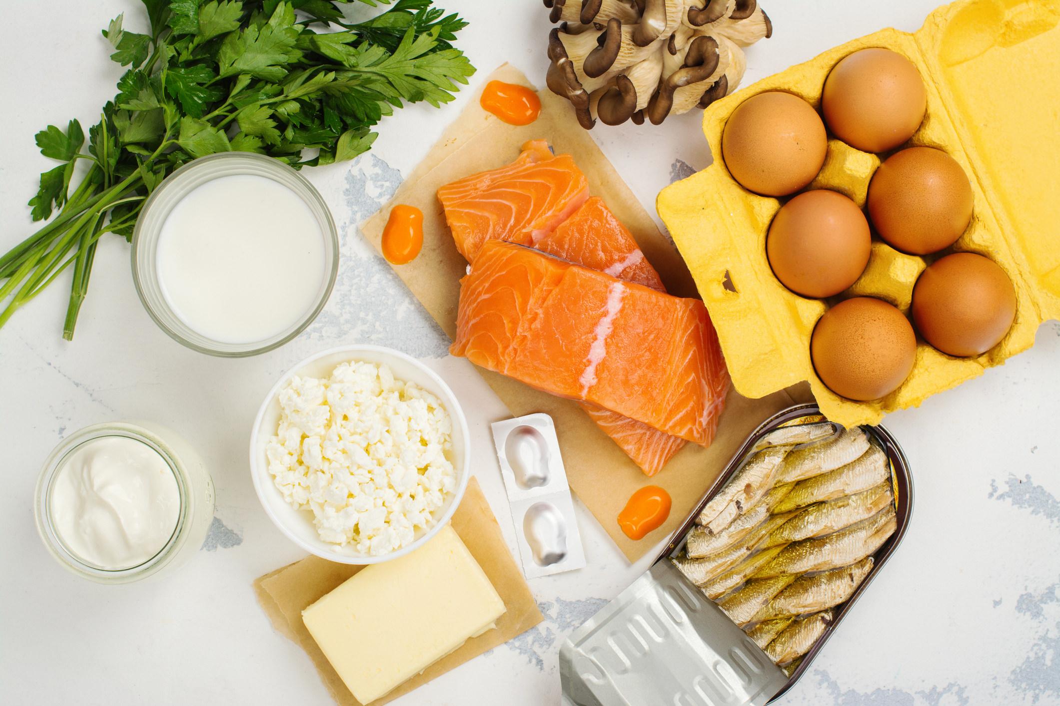 Fuentes de vitamina D y calcio