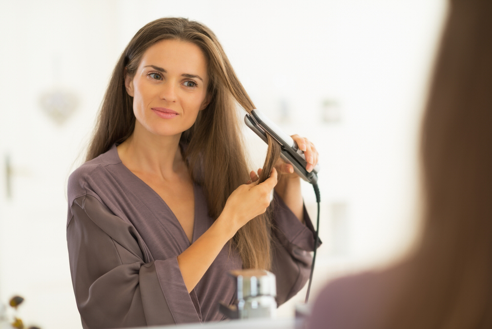 Consejos al usar la plancha del pelo